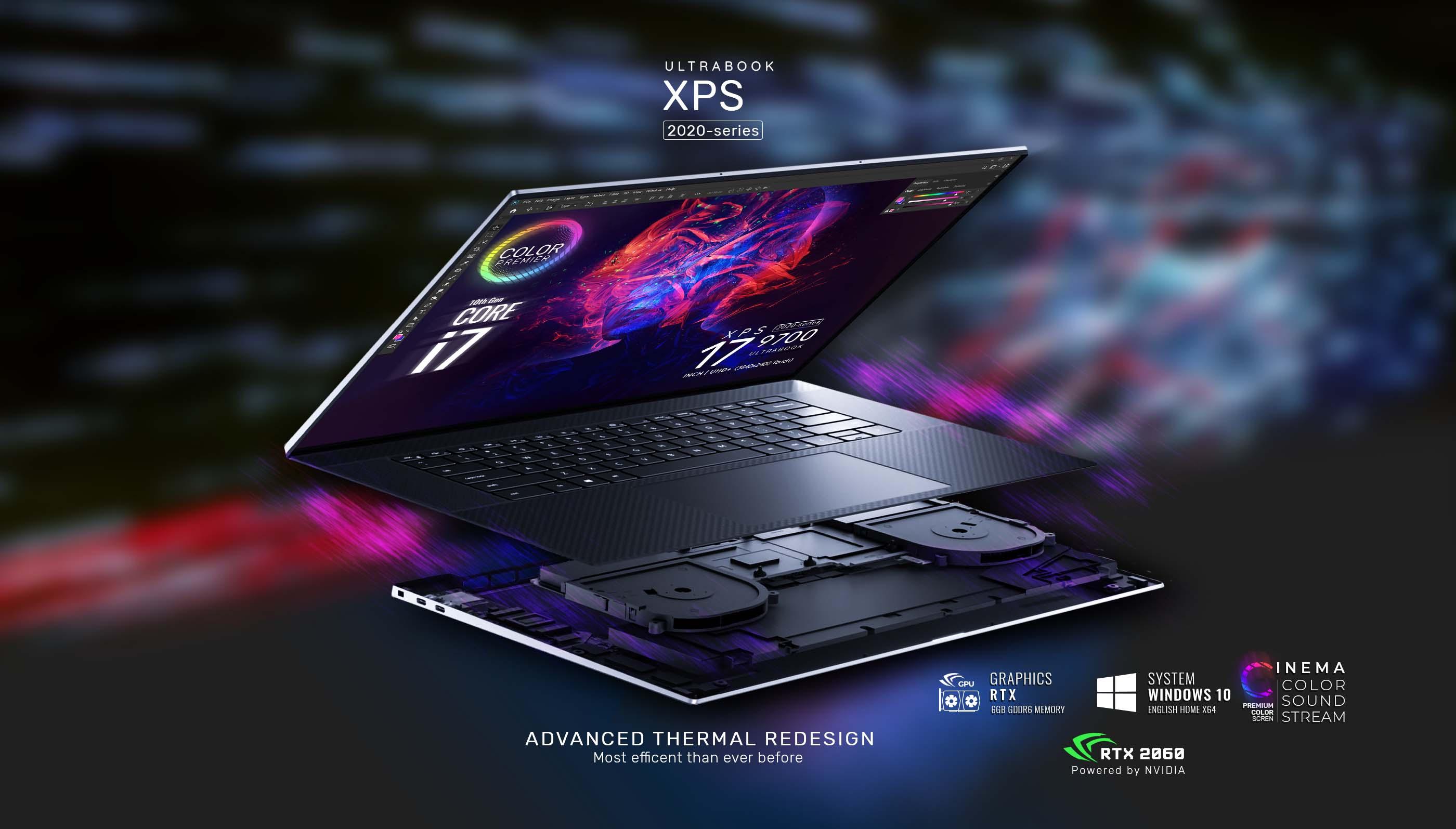 Dell XPS 17 9700 UHD i7-10875H RTX 2060 Pelnut